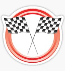race flags Sticker