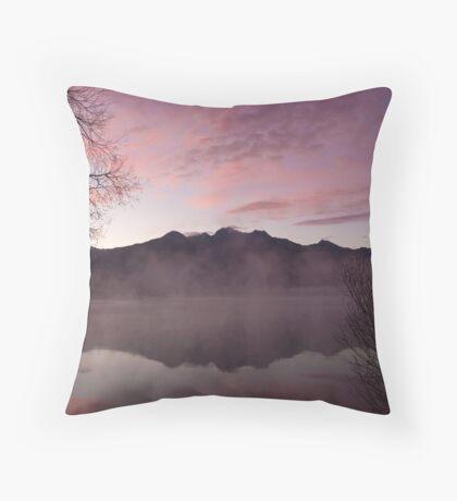 Pink dawn, KInloch NZ Throw Pillow