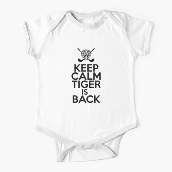 Keep Calm Tiger Woods is Back Short Sleeve Baby One-Piece