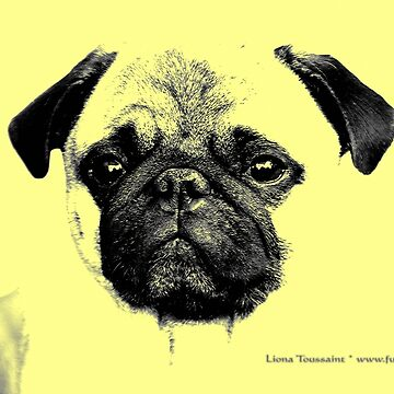 mops hundewelpe - french bulldog, funny, cute, love von fuxart