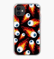 Flaming Eyeball Pattern iPhone Case