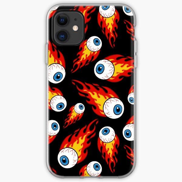 Flaming Eyeball Pattern iPhone Soft Case