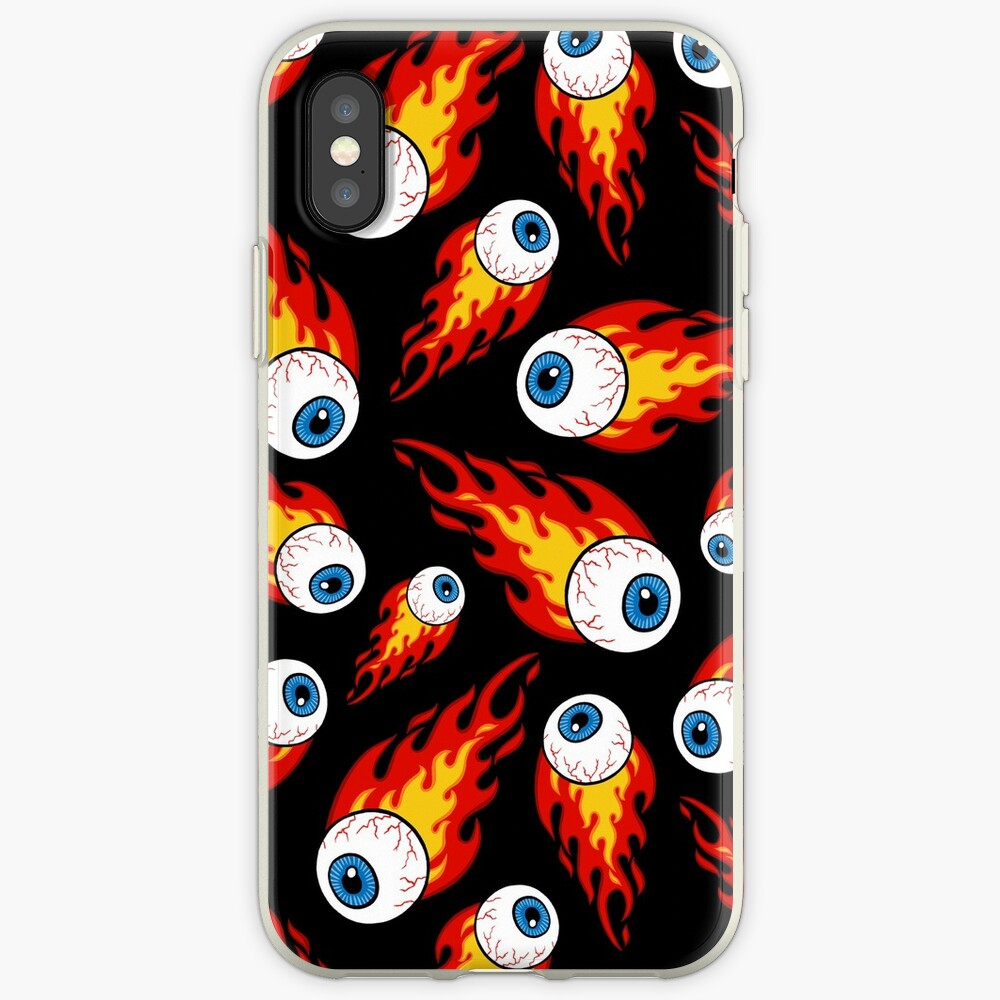 Flaming Eyeball Pattern iPhone Cases & Covers