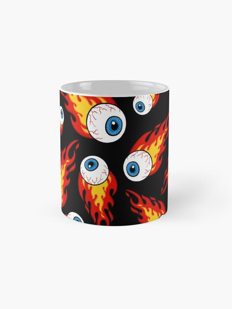 Alternate view of Flaming Eyeball Pattern Mugs