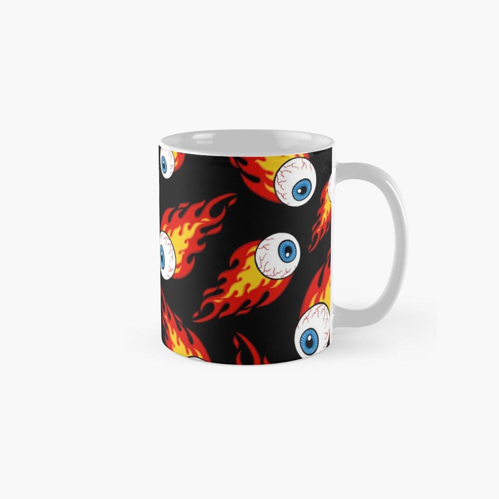 Flaming Eyeball Pattern Mugs