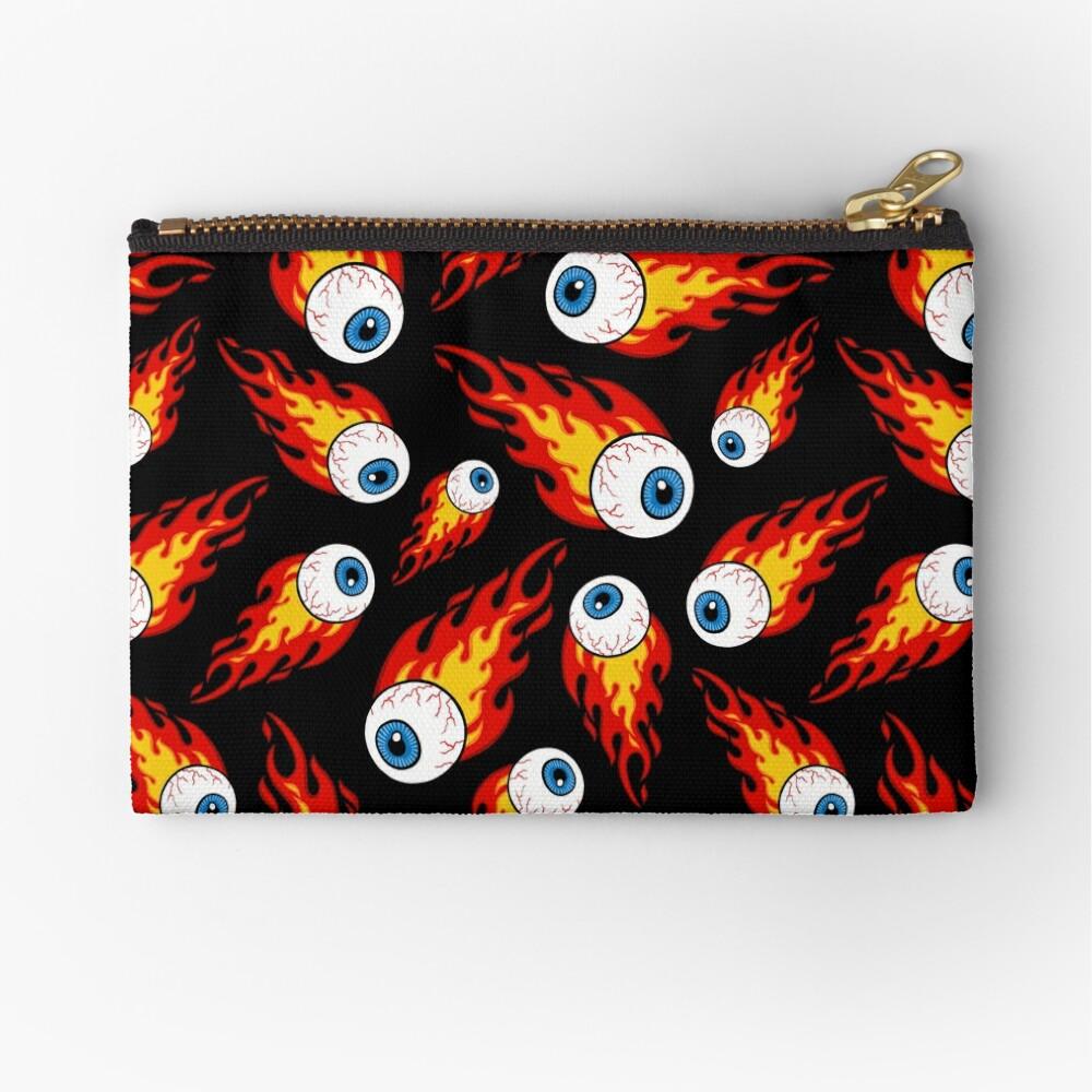 Flaming Eyeball Pattern Zipper Pouch