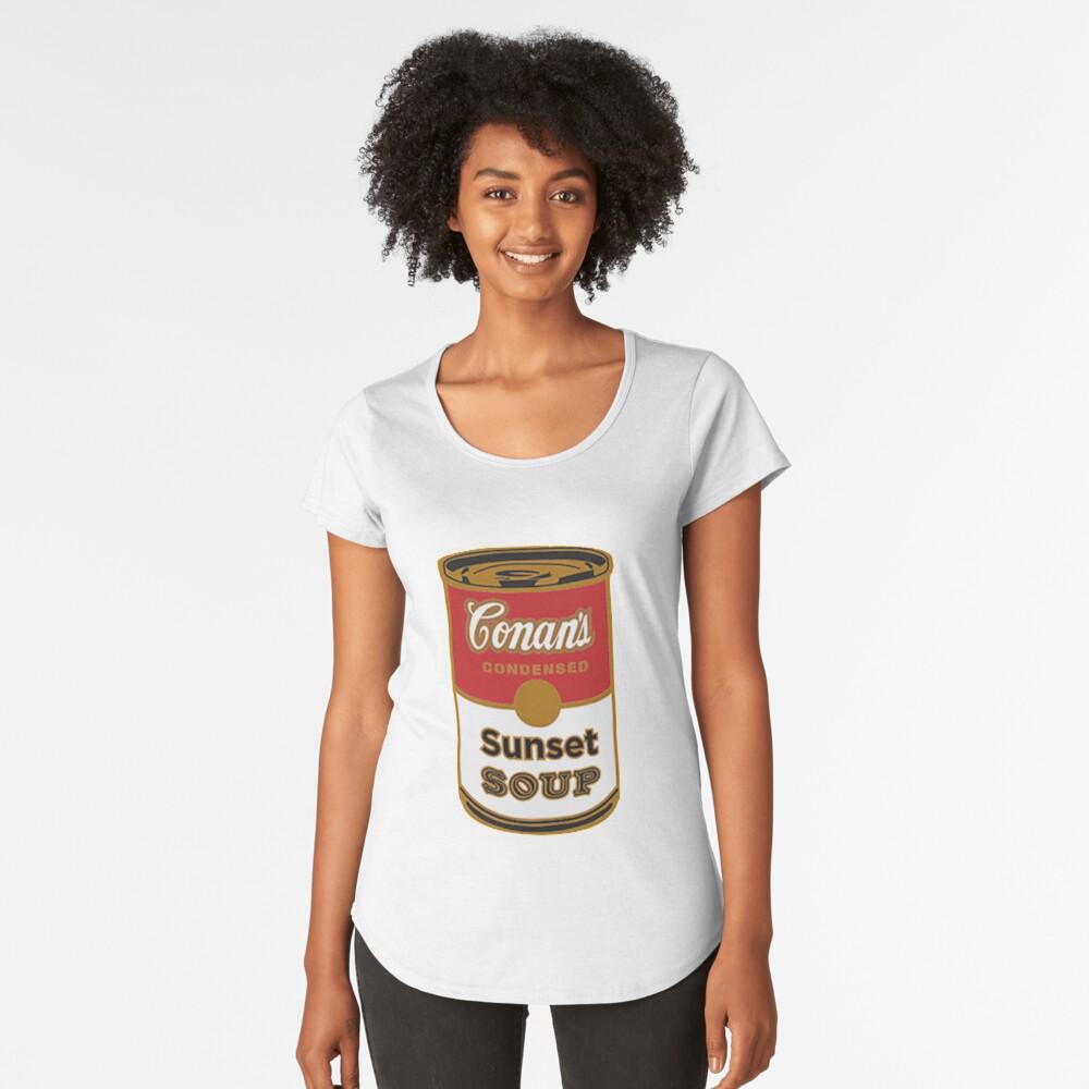 conan graue Sonnenuntergangsuppe Premium Rundhals-Shirt