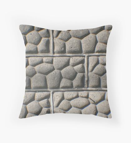 Bricks of Stone Throw Pillow