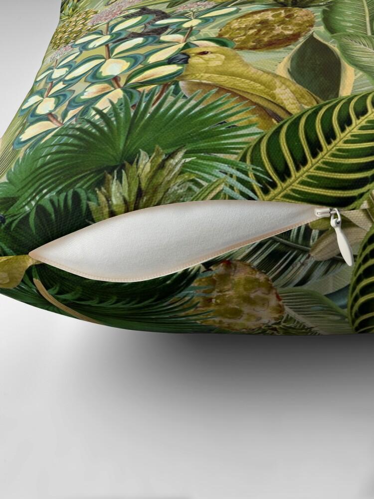 Alternate view of Vintage Green Tropical Bird Jungle Garden Floor Pillow