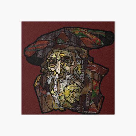 "Digital collage after  portrait of ""an old Jewish man""by Rembrandt van Rijn Art Board Print"