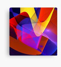 Floating veils, fractal abstract art Canvas Print