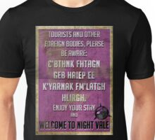 WELCOME TO NIGHT VALE PSA Unisex T-Shirt