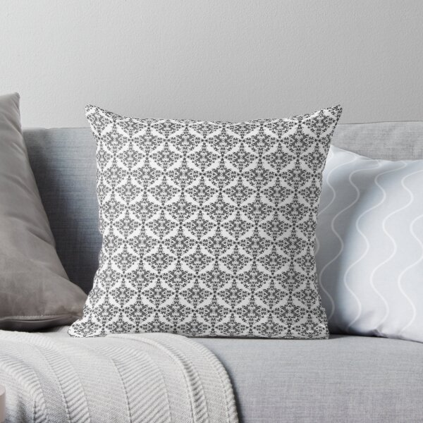 Decorative products in damask style Throw Pillow