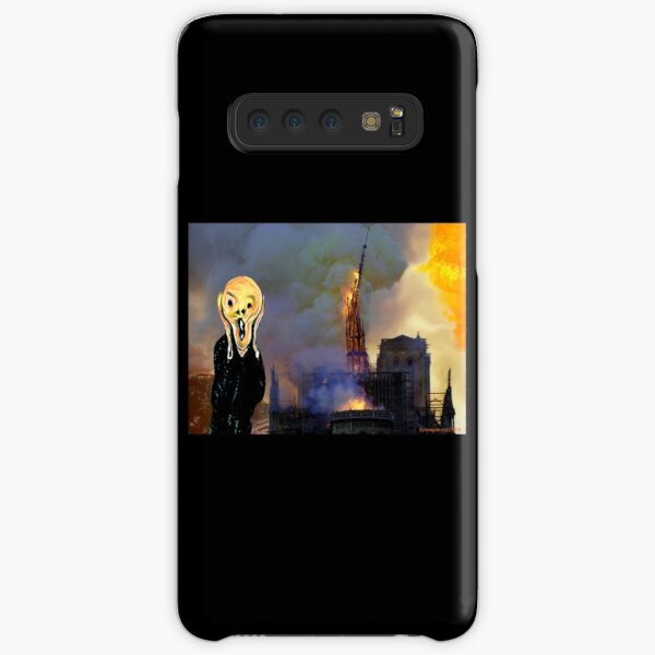 Screaming Fire Outside a Burning Cathedral Samsung Galaxy Snap Case