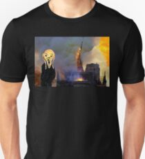 Screaming Fire Outside a Burning Cathedral Slim Fit T-Shirt