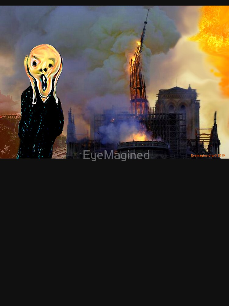 Screaming Fire Outside a Burning Cathedral by EyeMagined