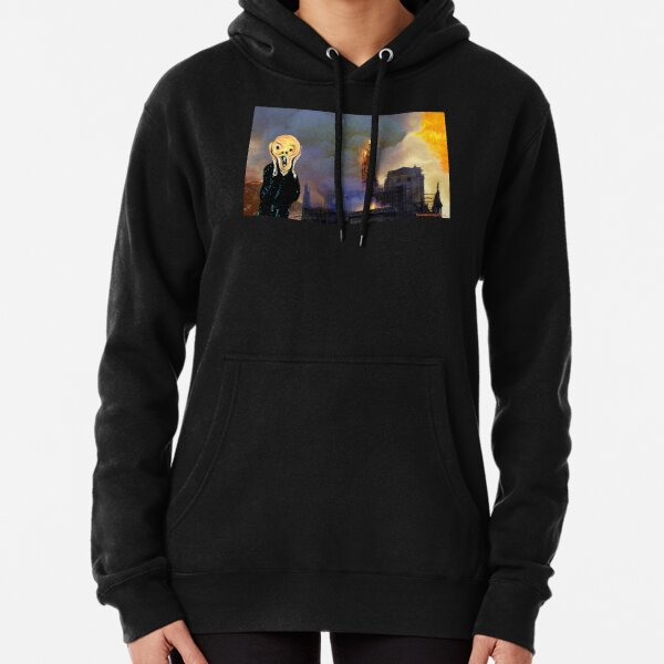 Screaming Fire Outside a Burning Cathedral Pullover Hoodie