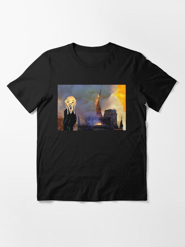 Alternate view of Screaming Fire Outside a Burning Cathedral Essential T-Shirt