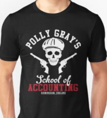 Peaky Blinders Polly Grays School Of Accounting Slim Fit T-Shirt