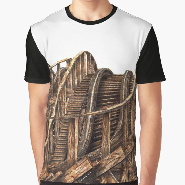 Wooden Coaster Graphic T-Shirt
