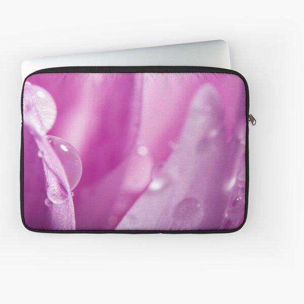 Droplets on Purple Petals Laptop Sleeve