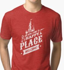 Magic Kingdom - Walt's Happy Place Tri-blend T-Shirt
