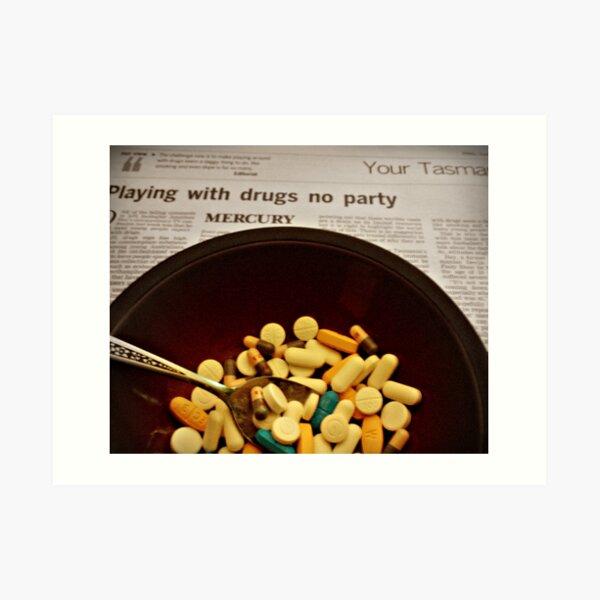 partyman drugs Art Print