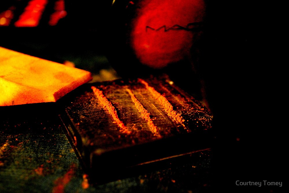 White Lines and Red Lights by Courtney Tomey
