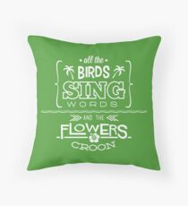 Enchanted Tiki Room - Sing Along Throw Pillow