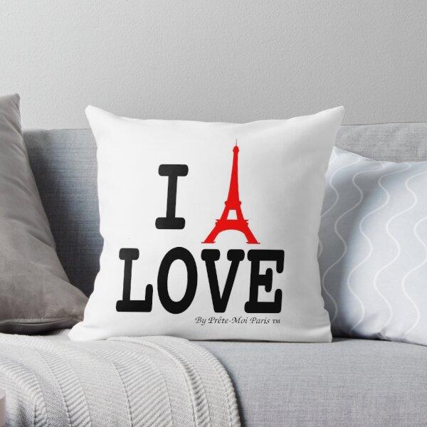 I Eiffel Paris pop font Throw Pillow
