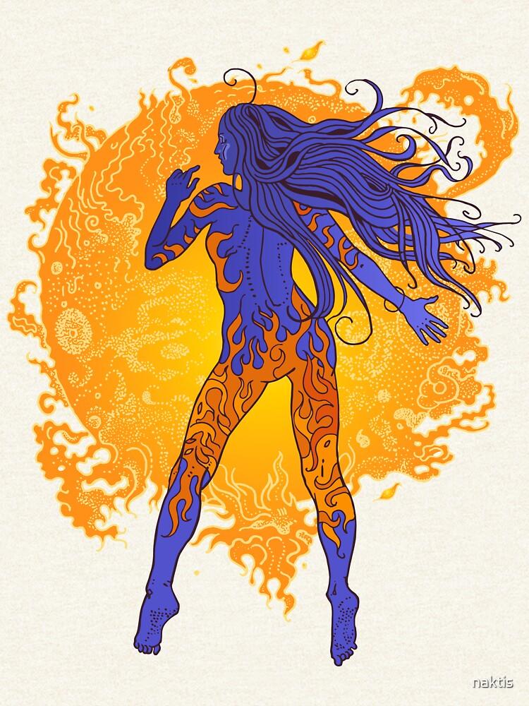 Fiery sun, cosmic girl. by naktis