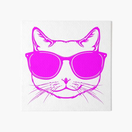 Chats en portant des lunettes Pussy amant Cushion Crazy Lady Anniversaire Maman Cadeau