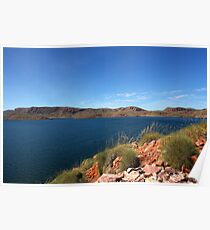 Lake Argyle - a man made masterpiece Poster