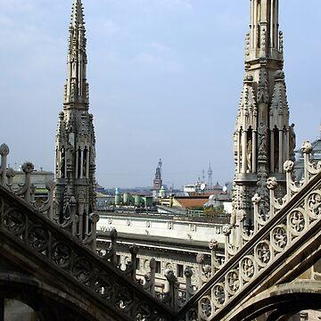 Look of the Milan cathedral - Blick vom Mailänder Dom von fuxart