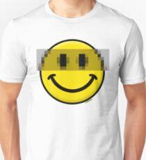 Pixelated Smiley Face Unisex T-Shirt