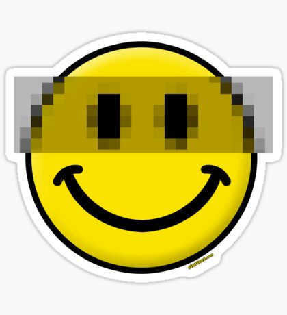 Pixelated Smiley Face Sticker