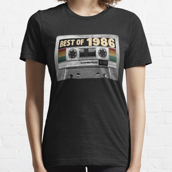 Best of 1986 Birthday Gifts for born in 1986 Vintage Cassette tape design Essential T-Shirt