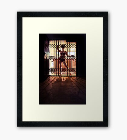 ...I like to rattle the cage... Framed Print