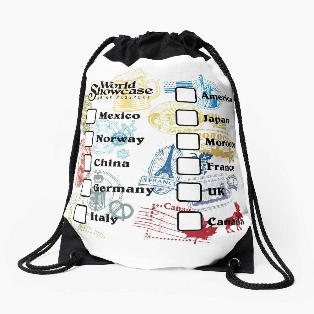 Drink Around the World - EPCOT Passport Drawstring Bag