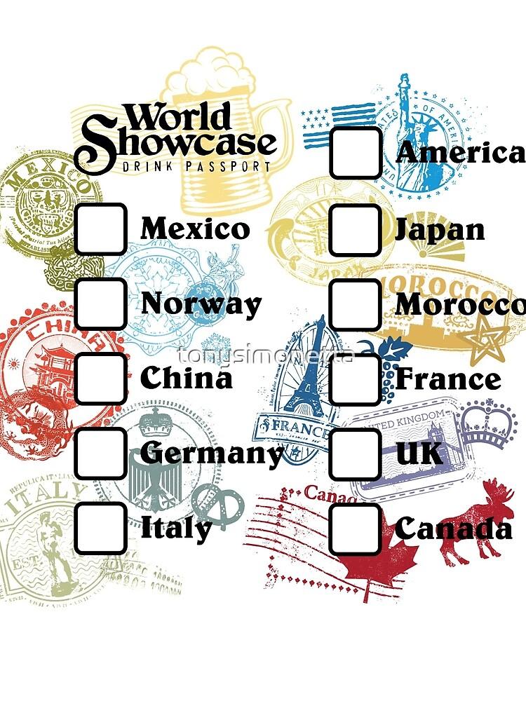 Drink Around the World - EPCOT Passport by tonysimonetta