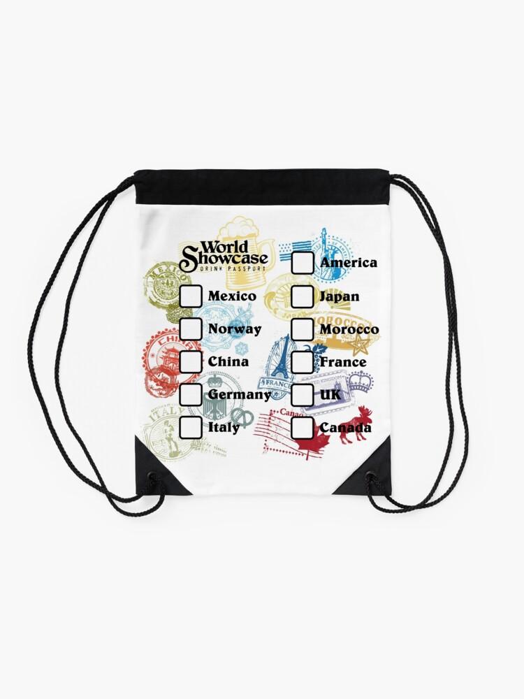 Alternate view of Drink Around the World - EPCOT Passport Drawstring Bag
