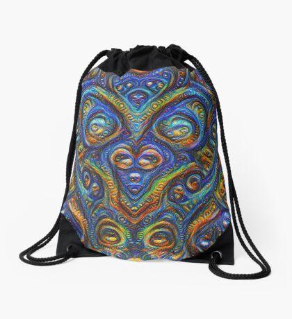 Summer night #DeepDream B Drawstring Bag