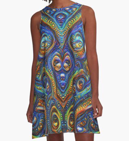 Summer night #DeepDream B A-Line Dress