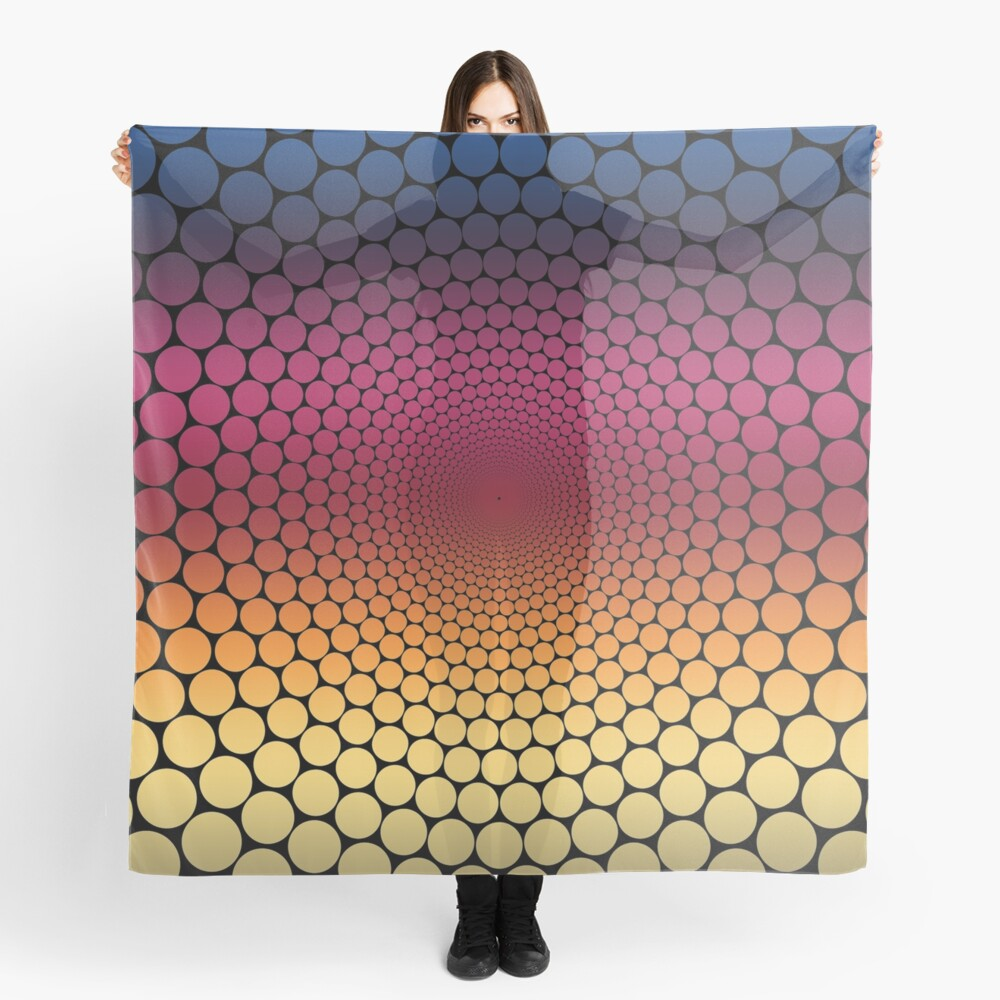 Optical Illusion Linear Gradient (Black) Scarf