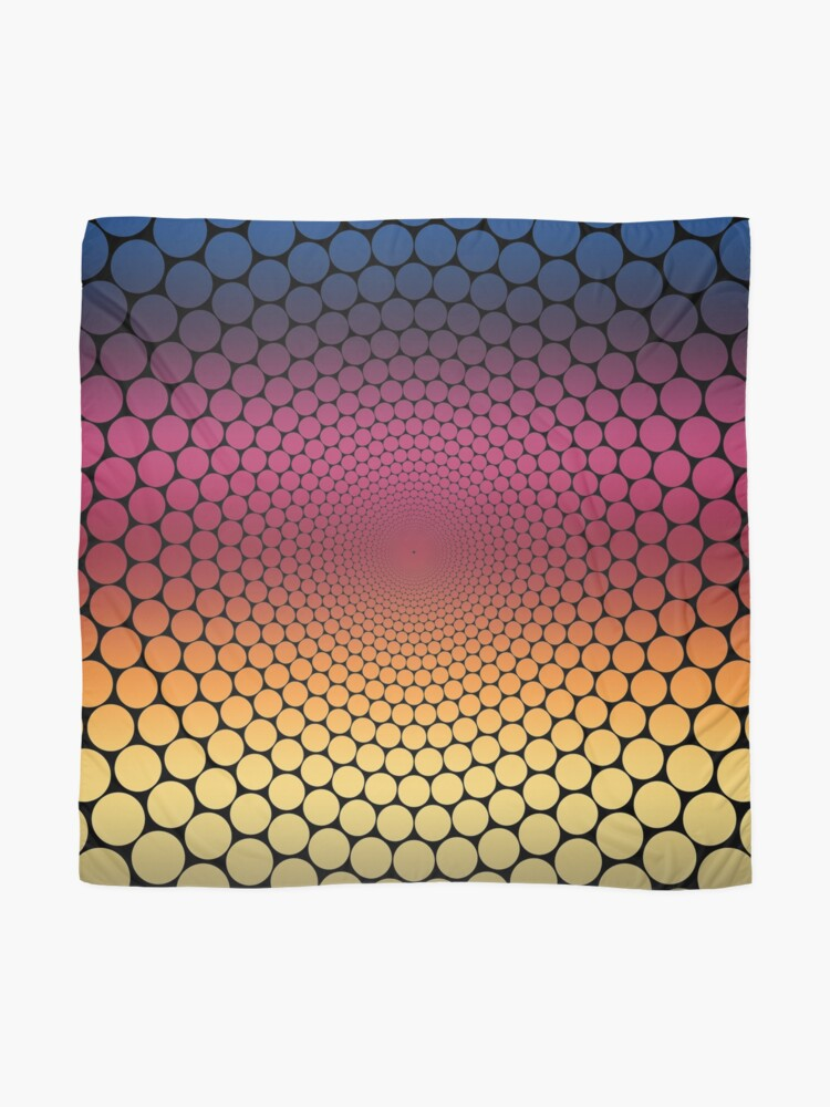 Alternate view of Optical Illusion Linear Gradient (Black) Scarf