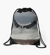 Spread your wings and land  Drawstring Bag