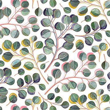 Einfache silberne Dollar-Eukalyptus-Blätter von micklyn