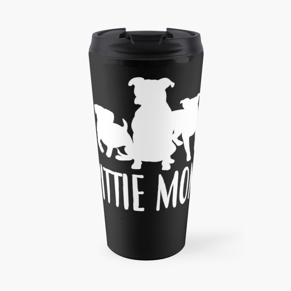 'Pittie Mom T-Shirt: Cute Gift For Pit bull dog lovers' Travel Mug by Dogvills