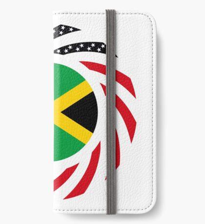 Jamaican American Multinational Patriot Flag Series iPhone Wallet