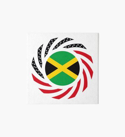 Jamaican American Multinational Patriot Flag Series Art Board Print